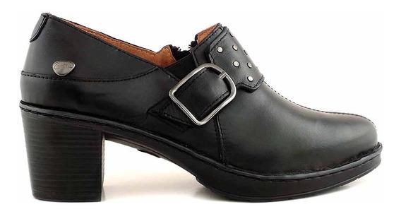 Zapato Cuero Mujer Cavatini Base De Goma Confort - Mccz03489