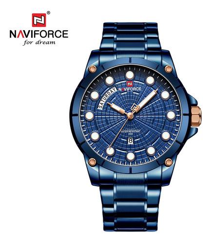 Naviforce Nf9152 Homens Marca Relógio De Quartzo Luminoso M