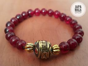 Pulsera Tibetana Mantra Om Mani Padme Hum * Agata Purpura