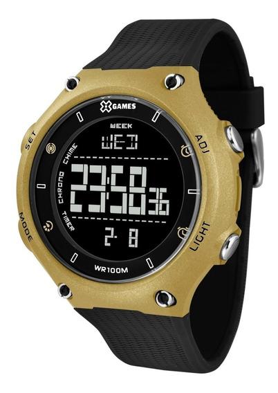 Relógio X-games Masculino Digital Xmppd490 Pxpx Dourado