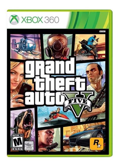 Gta 5 100% Original C Mapa Xbox 360 Theft Auto V Novo