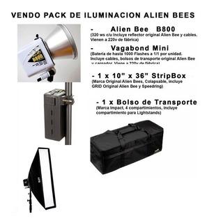 Pack De Iluminacion Alien Bee, Flash, Softbox