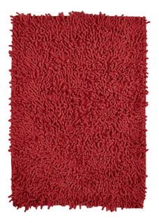 Alfombra Baño Shaggy Rojo