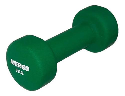 Mancuerna Hierro 2 Kg Maciza Recubierta Neoprene Fitness Gym