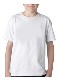 Camiseta Lisa 100% Poliester Infantil Do 1 Ao 12 (40 Peças)