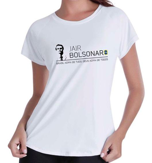 Camiseta Camisa Blusas Femininas Bolsonaro Presidente Frase