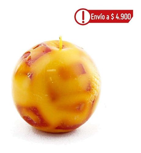 Imagen 1 de 1 de Vela Esfera Mediana Mandarina Pomelo