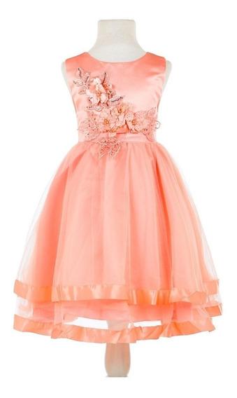 Vestido Importado Nena Fiestas Comunion Talle4 A 10 C1902