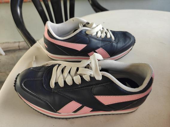 Zapatillas 33 Reebok Niña Azul Con Rosa