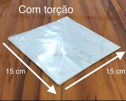 Imagem 1 de 3 de Celofane C/torção 15x15 Biodegradável Bala 500u