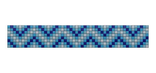 Imagen 1 de 1 de Cenefa En Mosaico Veneciano Ondulación Metro Lineal
