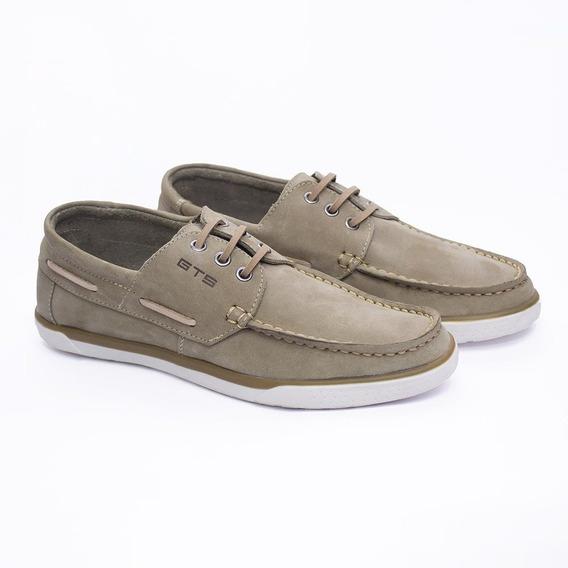 Sapato Casual Estilo 100% Couro Homem Moderno Gts...