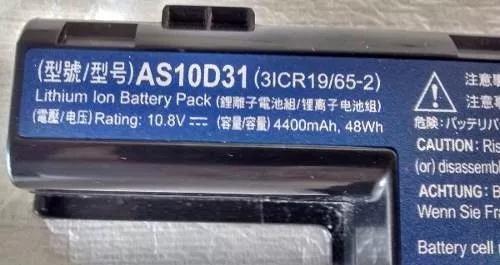 Bateria Notebook Acer 4252 As10d31(3inr19/65-2)