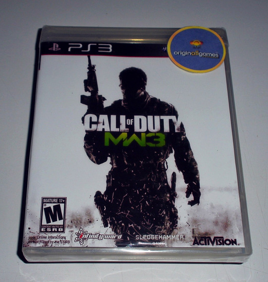 Call Of Duty Modern Warfare 3 ¦ Jogo Ps3 Orig Lac ¦ M Física