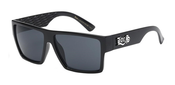 Óculos Locs 91105 Gloss Black Cholo Lowrider Old School