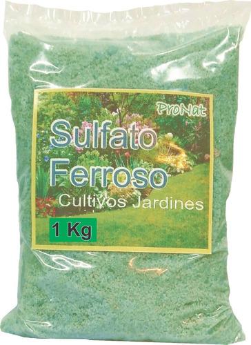 Sulfato Ferroso (fe) 1 Kilo Jardines, Cultivos