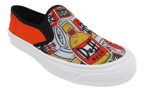 Tenis The Simpsons Cerveza Duff Beer Nuevos Original Unisex