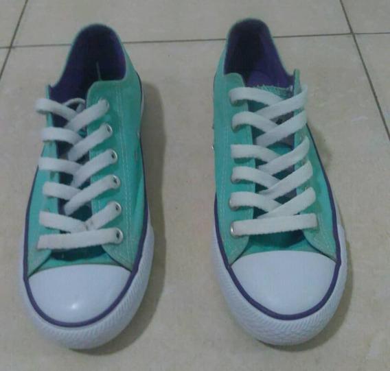 Zapatos Deportivos Apolo Tipo Converse En Rojo Y Verde T 36