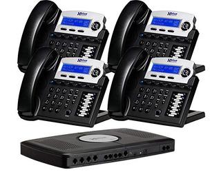 X16, Sistema De Teléfono De Oficina Pequeña Con 4 Teléfonos