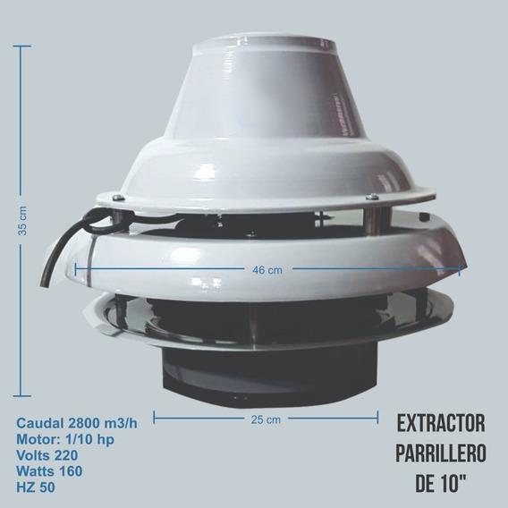 Extractor Parrillero De 10 Pulgadas