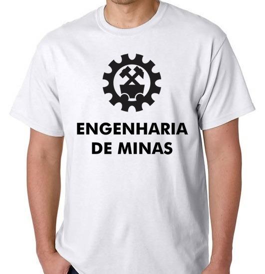 Camiseta Curso Blusa Engenharia De Minas Camisa Faculdade