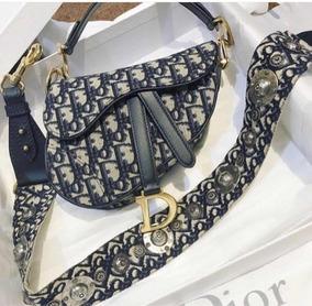 Bolsa Dior Saddle Denim Com 2 Alças E Certificado Original
