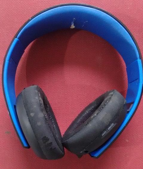 Fone De Ouvido Headset Gold Ps4 Wireless Stereo 7.1 Usado Otimo Estado