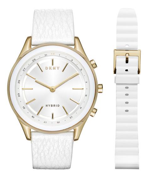 Smartwatch Híbrido Dkny Minute Nyt6101 Blanco