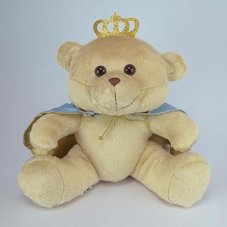 Urso De Pelúcia Príncipe G Azul 32cm Promoção!!!!!