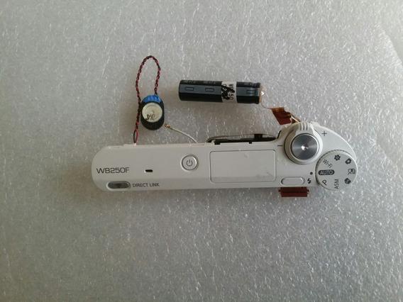 Circuito Flash E Botão Disparo P/ Câmera Samsung Wb250f New