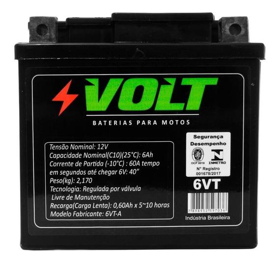 Bateria Moto Bros 150 Volt 6vt Selada 6ah 12 Volts
