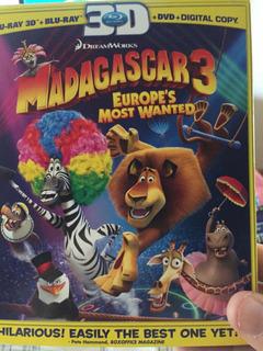 Blu Ray Madagascar 3