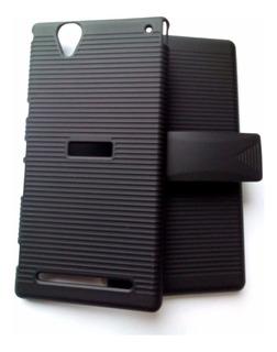 Capinha Belt Clip Cinto Sony Xperia T2 Ultra Dual +1p/vidro