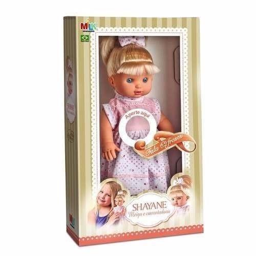 Boneca Linda Shayane Fala 62 Frases Milk Brinquedos Desconto