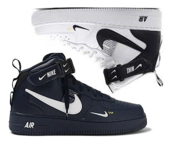 Tenis Bota Nike Air Forxce Tm One Skate Masculino Kit 2 Par