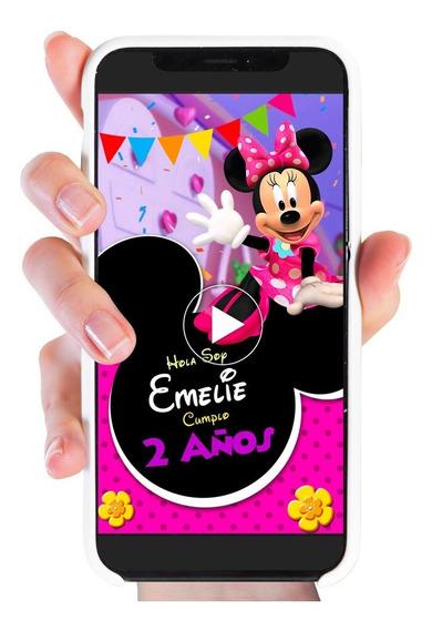 Invitación Minnie Mouse Boutique Video Invitación