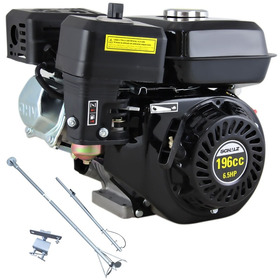 Motor Gasolina 6.5hp 196cc 4t Schulz Mgs + Rabeta Luxo 1,7m