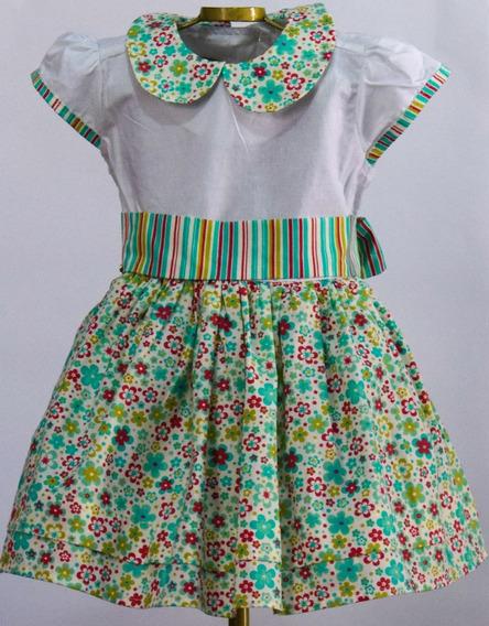 Vestido Infantil Menina   100% Algodão   Tecido Excelente