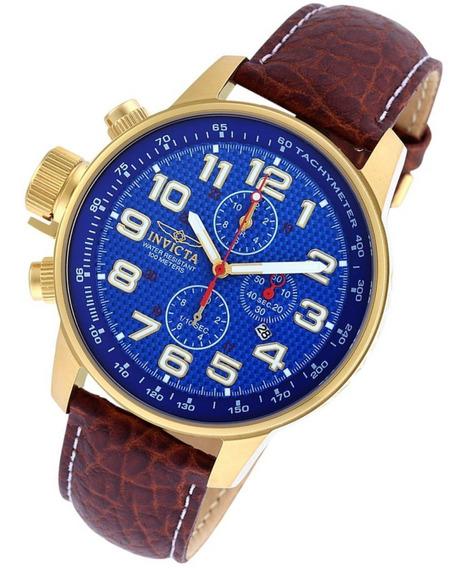 Relógio Invicta Pulseira Couro Marrom I Force 90067 Original