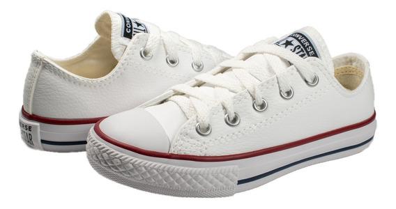 Tênis Converse Allstar Ck04200001 Branco/vermelho/marinho