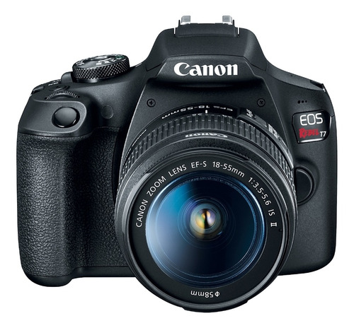 Câmera Digital Canon Dslr Eos Rebel T7 Full Hd Ef-s 18-55mm