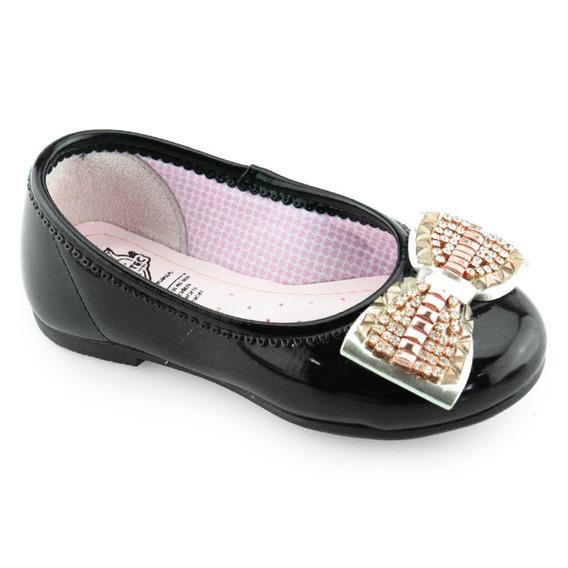 Sapatilha Infantil Preta Kidy Soft Confortável 02703210007