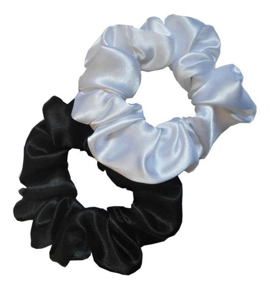Scrunchies, Colitas Para Pelo - Raso, Large - Pack X3u.