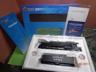 Locomotora De Vapor Brodway Blue Line Atsf Santa Fe