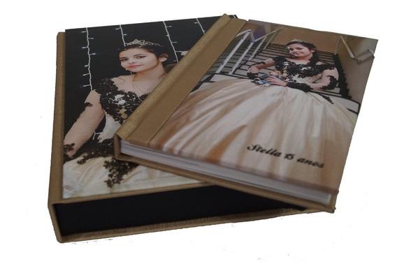 Album Encadernado Meia Capa 15x20 - 10 Lâminas + Estojo Pers