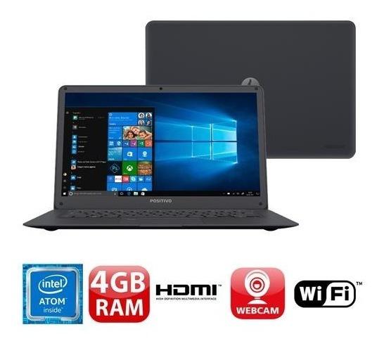 Notebook Positivo Quad Core 2gb 32gb Promoção Com Nf Novo