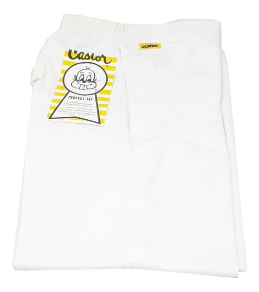 Pantalon Escolar Para Niño Castor Blanco