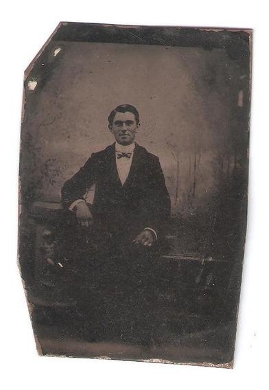 Ferrotipo 1870-80 Foto Antigua En El Estado Que Se Ve