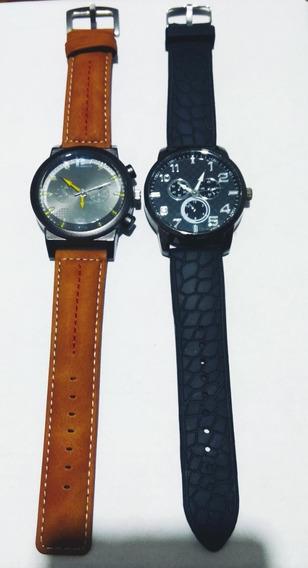 Relógio Geneva + Social Preto 6351