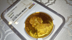 Moeda De Ouro Ngc Austria 4 Ducatos 1915 Ngc Franz Joseph I